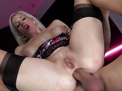 British Slut Paige gets fucked in a FFM threesome
