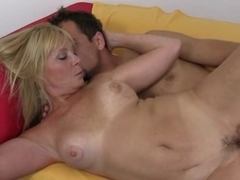 Hot Older Sexy Blonde Cougar in Jeans Banging