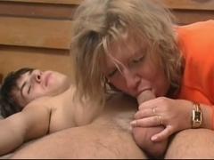Mature Cheating wife fucking young Lover and getting his cum