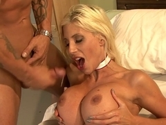 Blonde nurse with big boobs