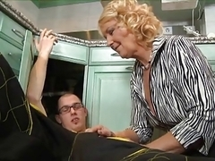 Mature woman fucks the plumber